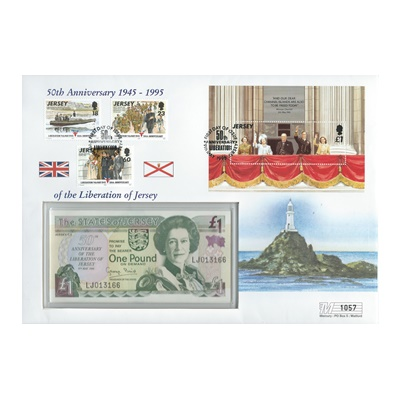 1995 £1 Note - 50th Anniversary - Liberation of Jersey 1945-1995